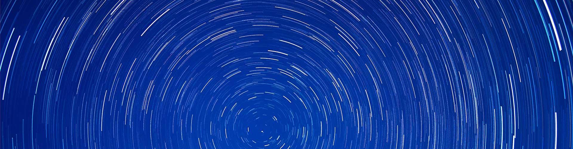 noční nebe kruh